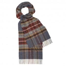 Gråblåt tartan scarf