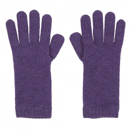 Violet strikkede cashmere handsker