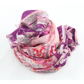 Pink and violet model/cashmere stole