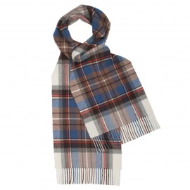 light blue tartan scarf
