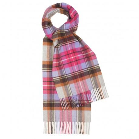 pink tartan scarf