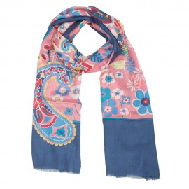 Blue silks scarf