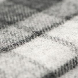 Dark blue tartan scarf