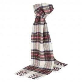 Off white tartan scarf