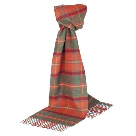 Cinnabar red tartan scarf