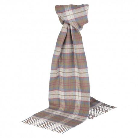 Silver grey tartan scarf