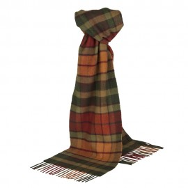 tartan scarf in orange shades