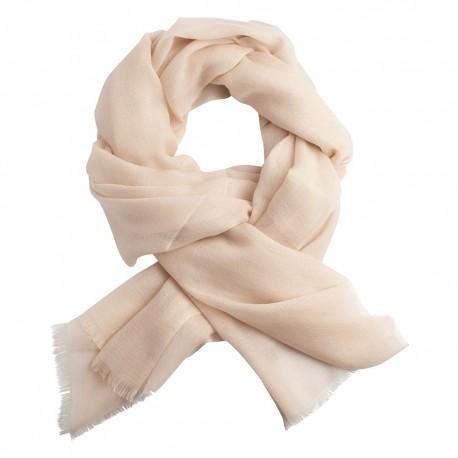 Off white pashmina shawl in diamond weave