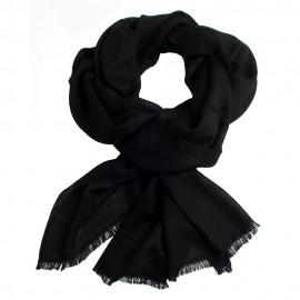 Black jacquard pashmina stole
