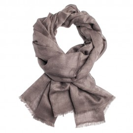 Grey brown jacquard pashmina stole