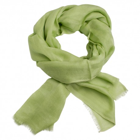 Apple green jacquard pashmina stole