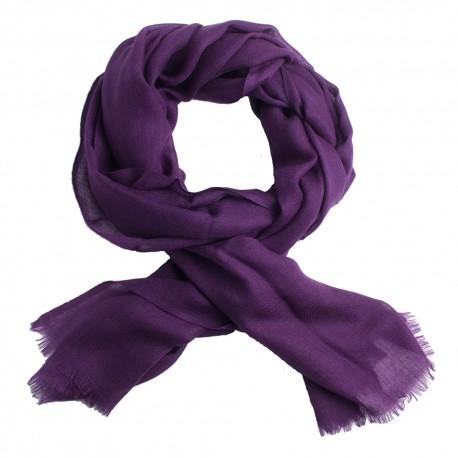 Dark purple pashmina stole in diamond weave