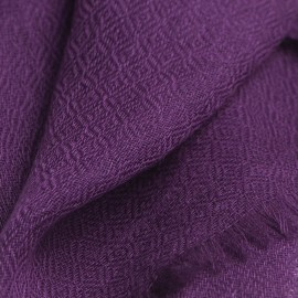 Dark purple pashmina stole in diamond weave