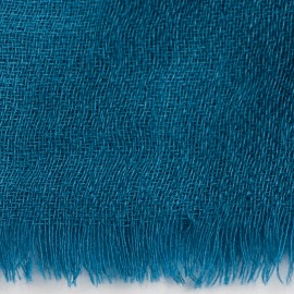 Steel blue pashmina stole in diamond weave