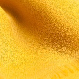 Golden pashmina stole in diamond weave