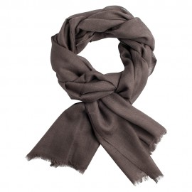 Mouse grey pashmina stole in diamond weave