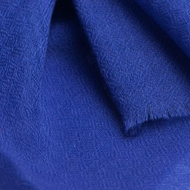 Royal blue pashmina stole in diamond weave