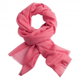 Light pink pashmina stole in diamond weave