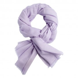 Lavender pashmina scarf in twill weave