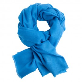 Azure pashmina scarf in twill weave
