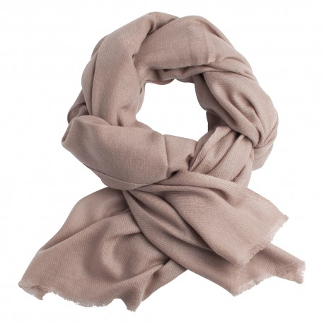 Grey brown pashmina scarf in twill weave