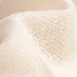 Off white pashmina scarf in twill weave