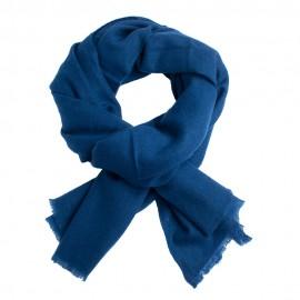Dark blue pashmina scarf in twill weave