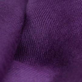 Dark purple pashmina shawl in 2 ply twill weave