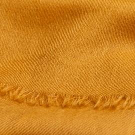Dark golden pashmina shawl in 2 ply twill weave