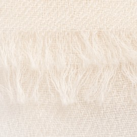 Off white pashmina shawl in 2 ply twill weave