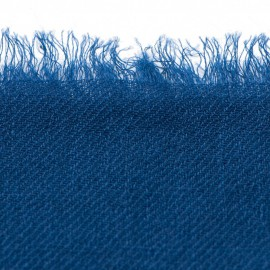 Dark blue pashmina shawl in 2 ply twill weave