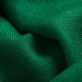 Dark green pashmina shawl in 2 ply twill weave
