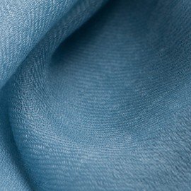 Dove blue pashmina shawl in 2 ply twill weave