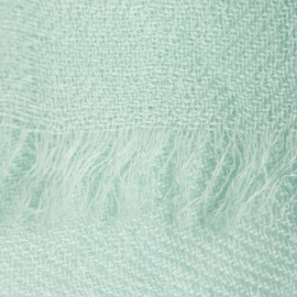 Mint green pashmina shawl in 2 ply twill weave