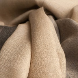 Three coloured pashmina shawl in beige, grey and black