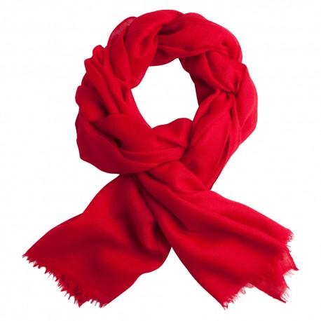 Dark red pashmina stole in diamond weave