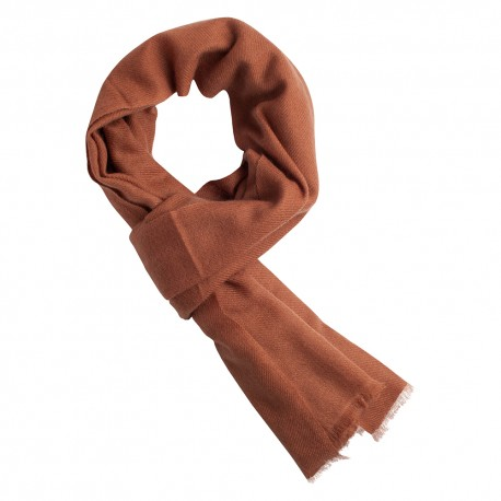 Chestnut brown pashmina scarf in cashmere