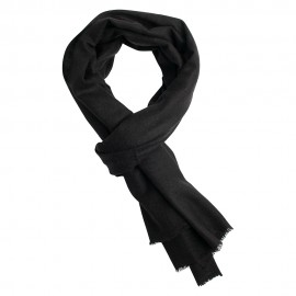 Anthracite pashmina scarf in twill weave