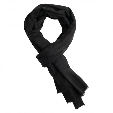 Charcoal pashmina scarf in cashmere