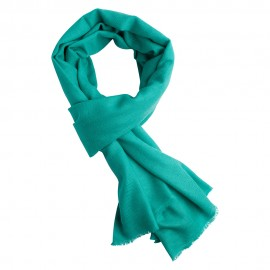 Turquoise pashmina scarf in twill weave
