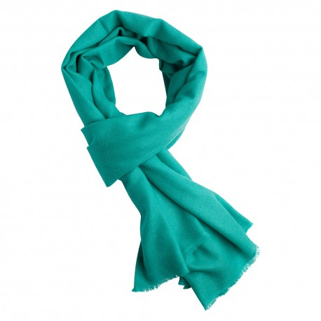 Turquoise pashmina scarf in cashmere