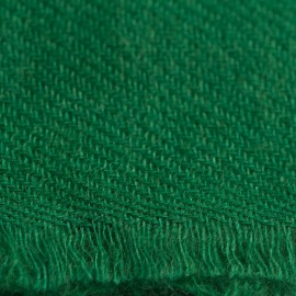 Dark green pashmina scarf in cashmere