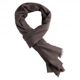 Grey brown pashmina scarf in twill weave
