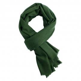 Army green pashmina scarf in twill weave