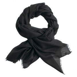 Anthracite pashmina shawl in 2 ply twill