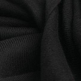 Charcoal pashmina shawl in 2 ply twill