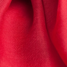 Cranberry red pashmina shawl in 2 ply twill