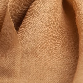 Toffee coloured pashmina shawl in 2 ply twill