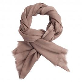 Grey brown pashmina shawl in diamond weave