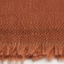 Chestnut brown pashmina shawl in diamond weave